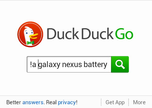 DuckDuckGo on mobile browser