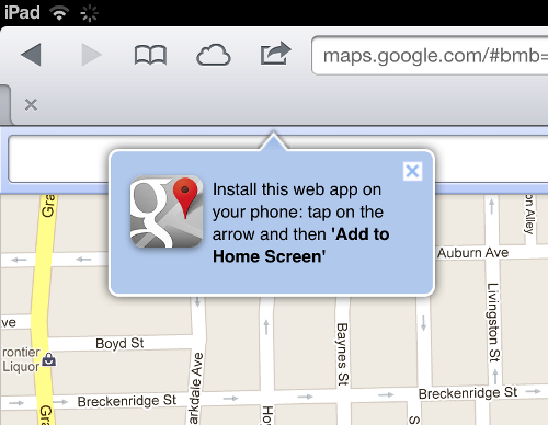 Creating a Google Maps shortcut on iOS