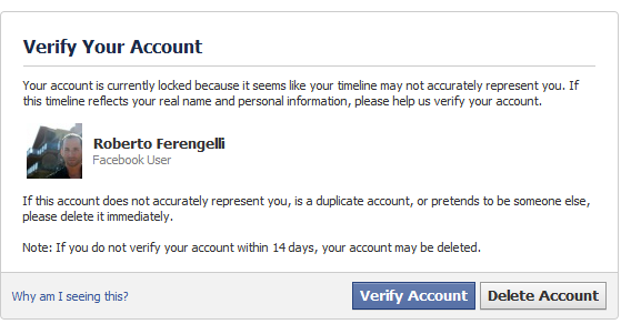 Why you should not use your real name on facebook