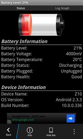 BB Z10 battery drain