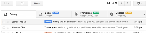 New Sort Feature in Gmail