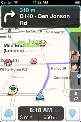 Waze is all about being social