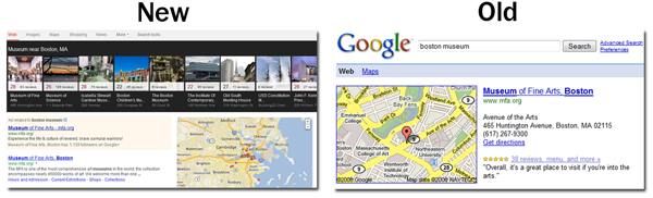 Old vs. New of Google Local Searches