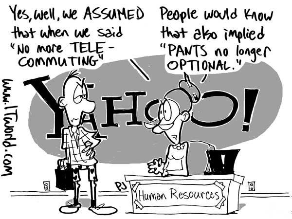 Yahoo telecommuting