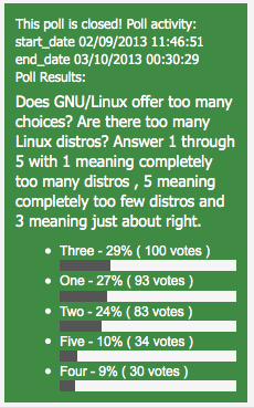 Too Many Linux Distros Poll