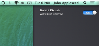 Disable Notifications in OS X Mavericks
