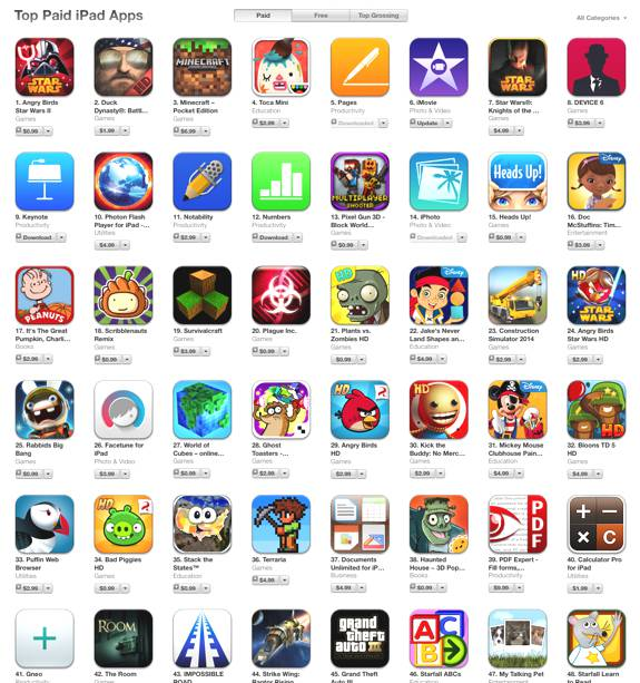 ipad top apps