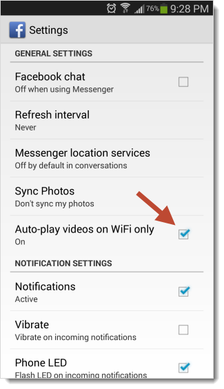 Disable Facebook Autoplay Videos Android Devices
