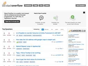 Screen shot of Stack Overflow website