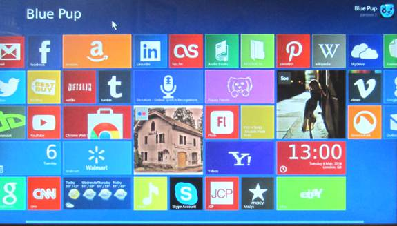 Blue Pup Linux Distro Metro Interface