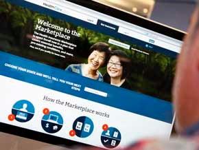 Screenshot of HealthCare/.gov website