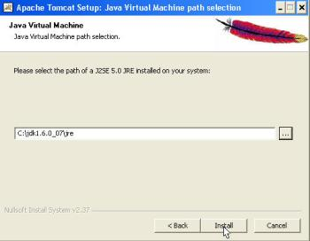 Selecting a Java JRE to run Tomcat