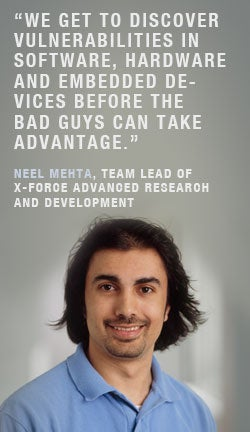 Neel Mehta, team lead, XForce