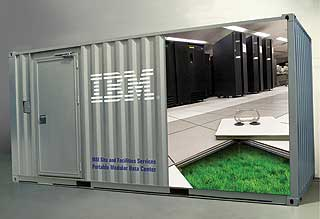Rackable Systems' ICE Cube portable data center can be fitted with as many as 22,400  processing cores in 2,800 servers.