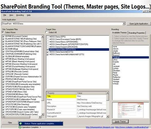 SharePoint Branding Tool