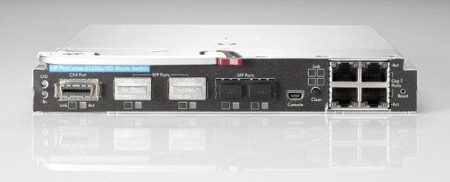 The HP Procurve 6120 sports eight 10G uplinks