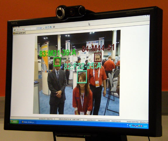Photo of NEC's facial recognition system