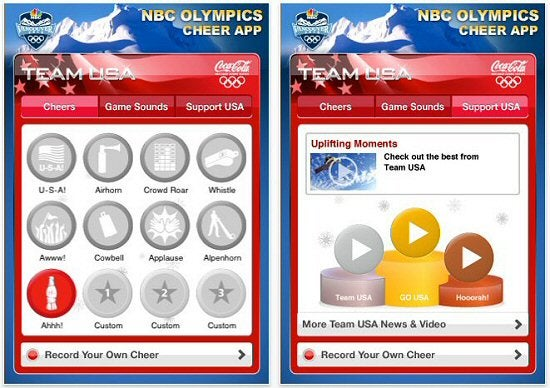 Olympic iPhone app