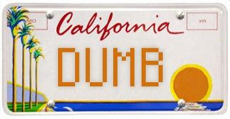 CA license plate