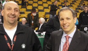 Boston Celtics' Jay Wessel and NBA CIO Michael Gliedman
