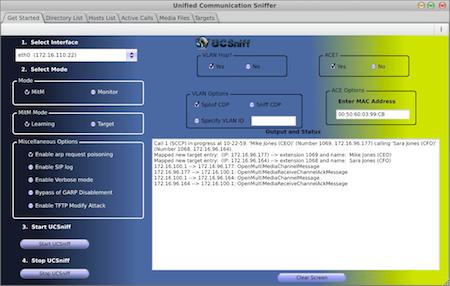 UCSniff Screenshot