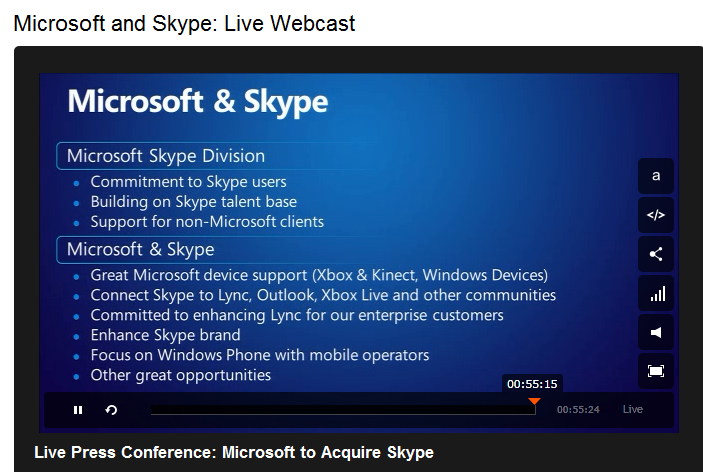 microsoft skype acquisition Tech giant microsoft has closed its us$85bn acquisition of internet telephony provider skype, microsoft has announced skype will function as a new business division within microsoft.