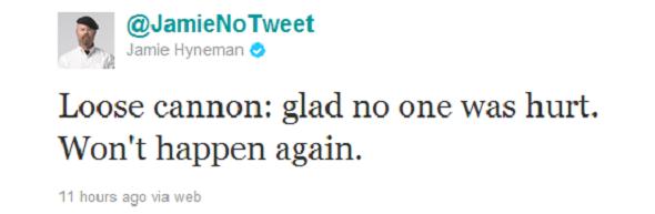 Jamie tweet