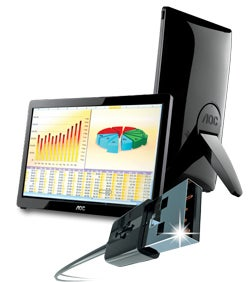 AOC portable USB monitor