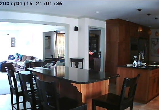despite timestamp, captured this morning from TRENDnet IP security cam inside someone's home due to vulnerability
