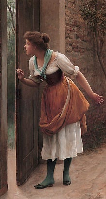 The Eavesdropper by Eugen von Blaas