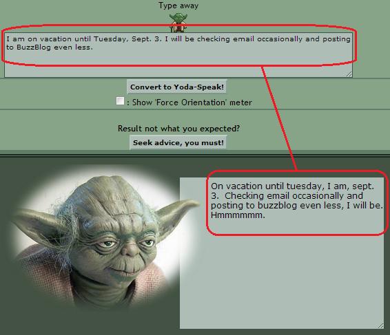Vacation I am on, Yoda informs | Network World