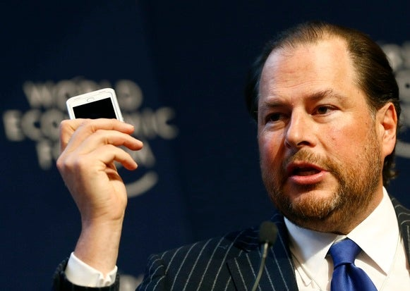 Salesforce acquisition rumors Microsoft Oracle Marc Benioff