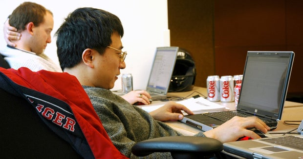 Programmers at Microsoft in 2005