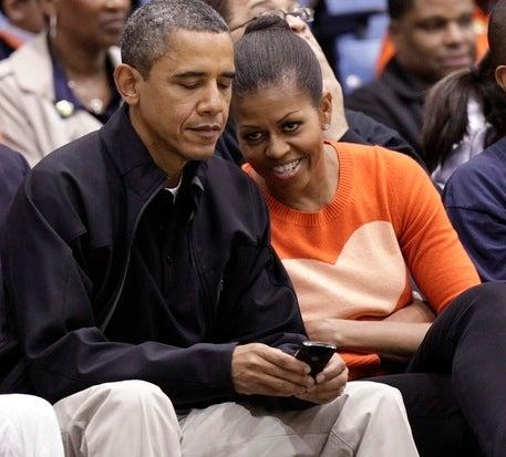Obama and Michelle Obama