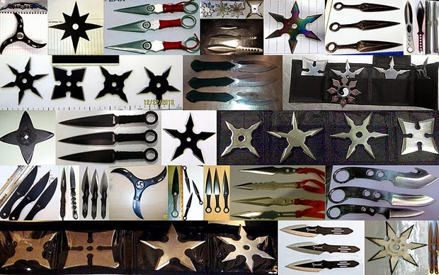 throwing knives and stars