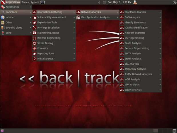 BackTrack website