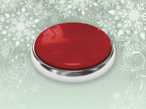 Image of a red button