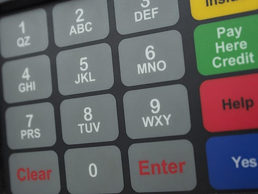 Gas station pump keypad