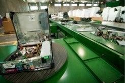 IT assets on conveyor belt