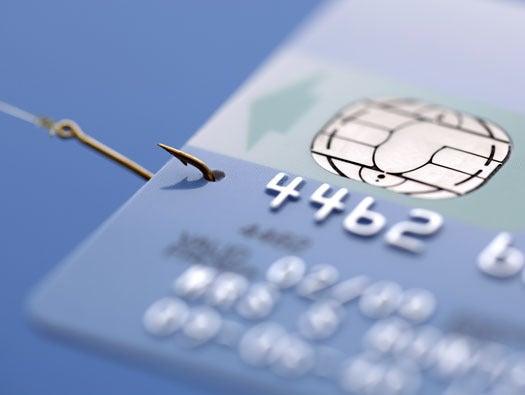 Credit card phishing image