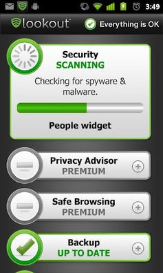 Lookout Mobile Security app screenshot