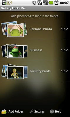 Gallery Lock app screenshot