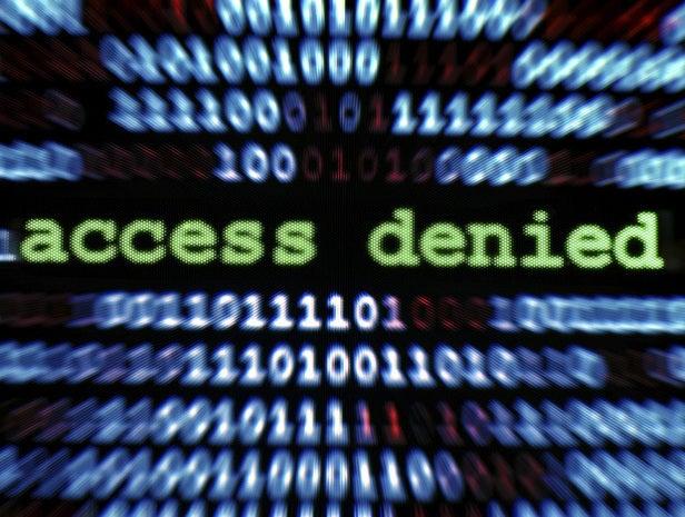 Access denied message