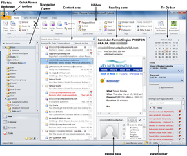 Outlook 2010 cheat sheet: Visual tour