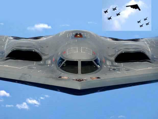 B-2 stealth bomber takes flight