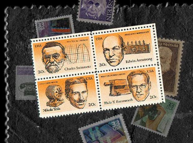 American inventors, including Nikola Tesla (1983)