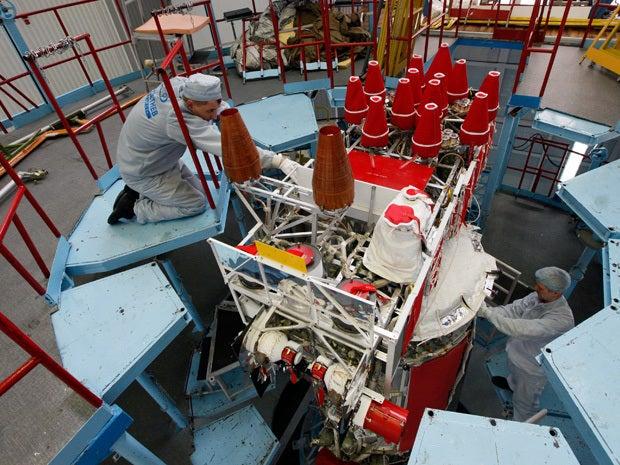 GLONASS-M space navigation satellite