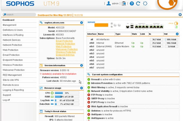 Sophos/Astaro: Simple setup, flexible