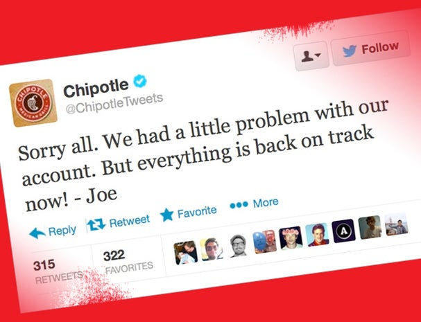 Chipotle fakes a Twitter hack
