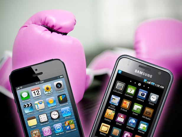 samsung galaxy, apple iphone